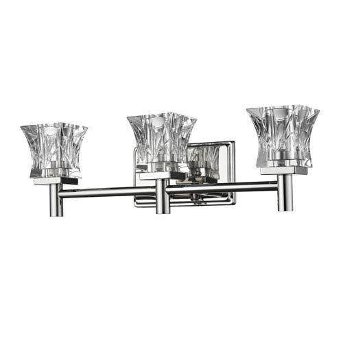 Arabella Polished Nickel Three-Light Bath Vanity