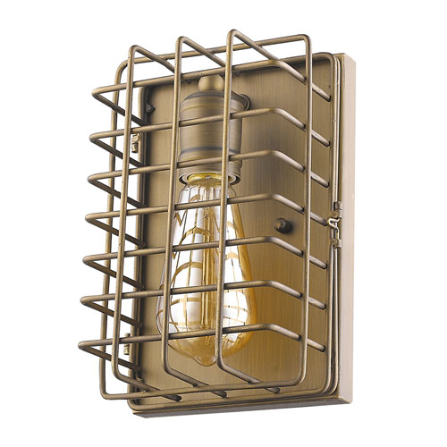 Acclaim Lighting Lynden Raw Brass 6-Inch One-Light Wall Sconce