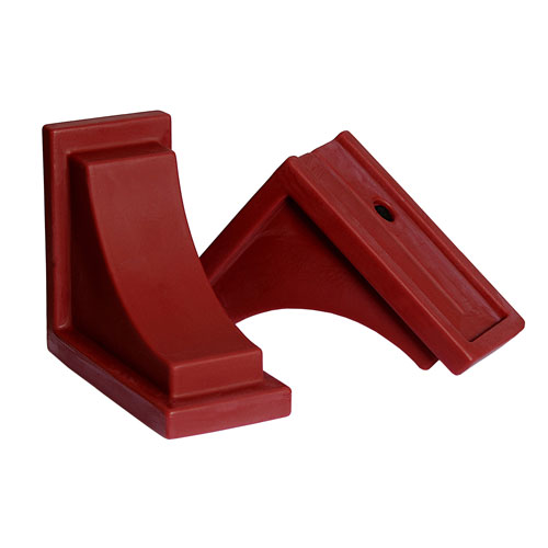 Nantucket Red Decorative Brackets, Set of Two