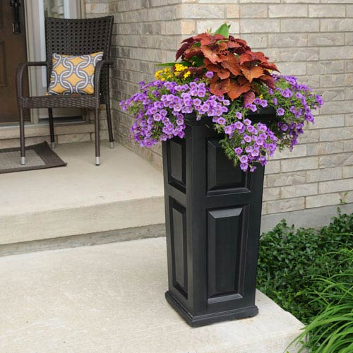 Mayne Nantucket Black Tall Planter