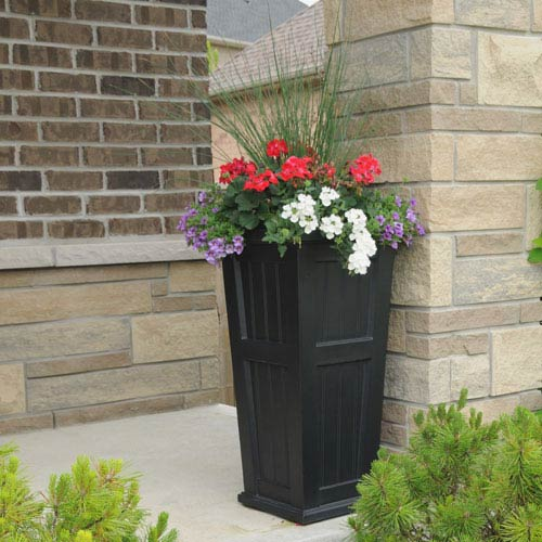 Mayne Cape Cod Tall Planter - Black