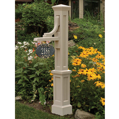 Woodhaven Clay Address Sign Post