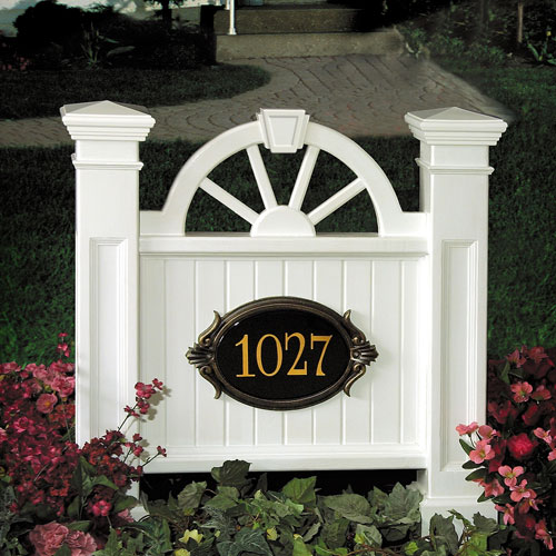 Winchester White Address Sign