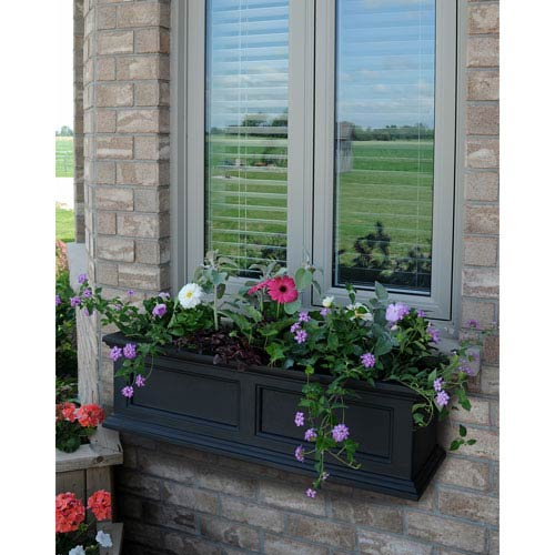 Mayne Fairfield Black 36-Inch Window Box