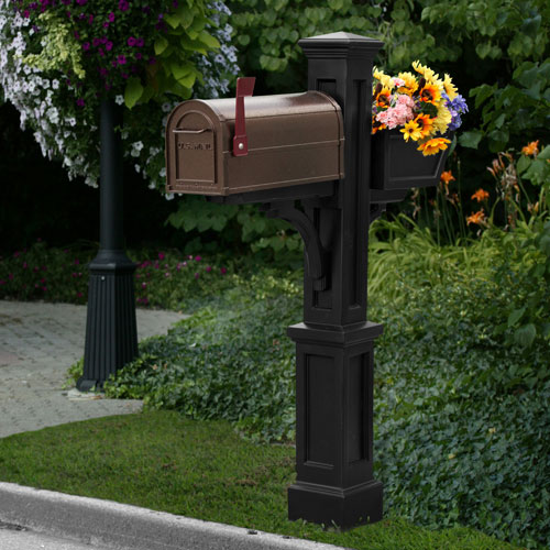 Mayne Westbrook Plus Black Mailbox Post