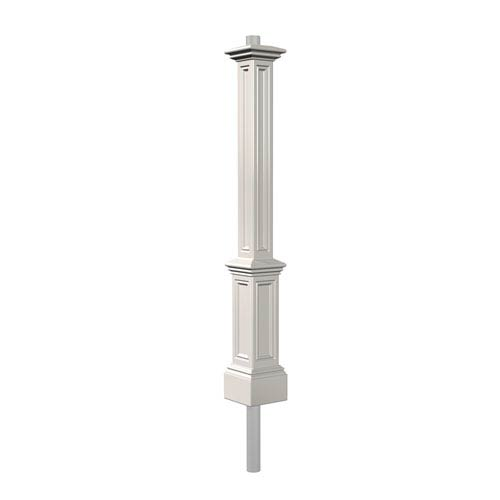 Signature White Lamp Post with Mount