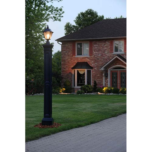 Mayne Liberty Black Lamp Post with Mount