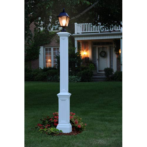 Exceptionnel Mayne Signature White Lamp Post Without Mount