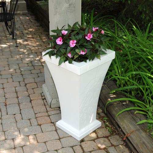 Bordeaux White Tall Planter