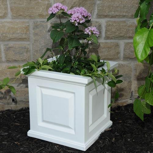 Nantucket White 16 x 16-Inch Outdoor Planter