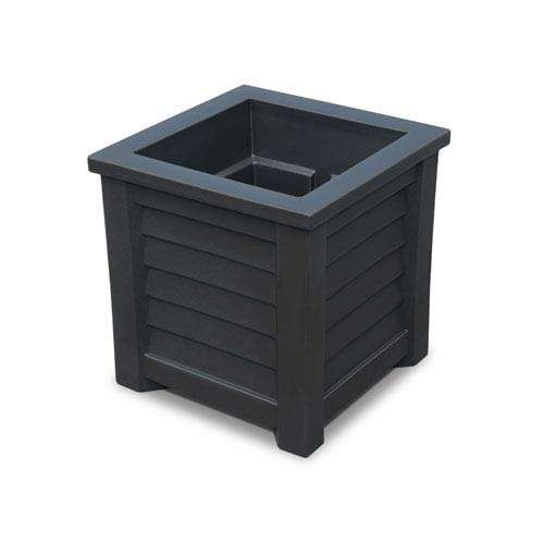Mayne Lakeland Black 16 x 16-Inch Outdoor Planter