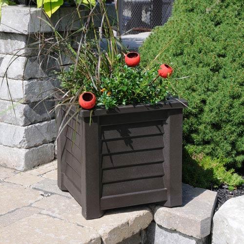 Lakeland Espresso 16 x 16-Inch Outdoor Planter