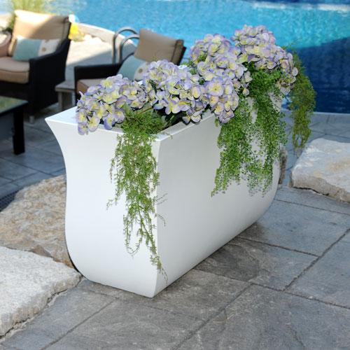 Valencia Long Planter - White