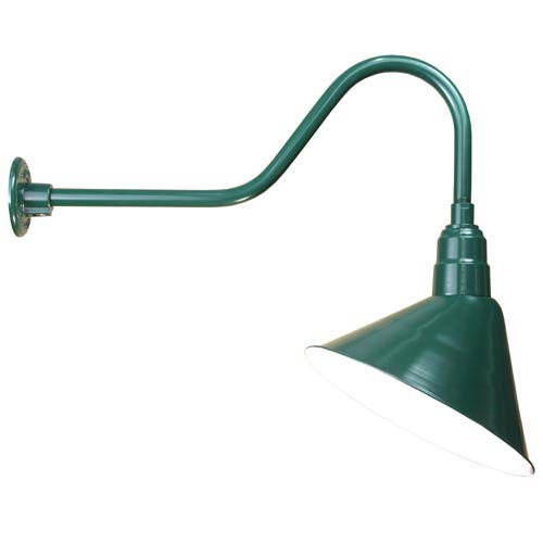 Angle Forest Green 14-Inch Outdoor Wall Light