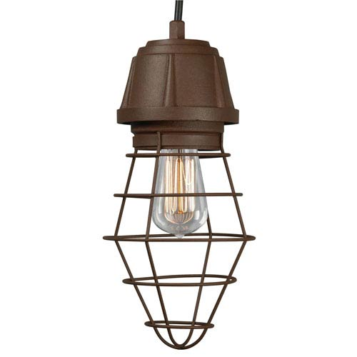 Retropolitan Copper Clay One-Light Outdoor Pendant