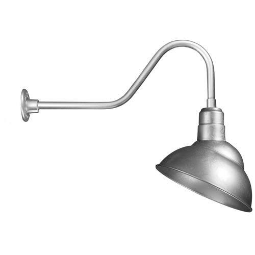 ANP Lighting Emblem Galvanized 12-Inch Outdoor Wall Light