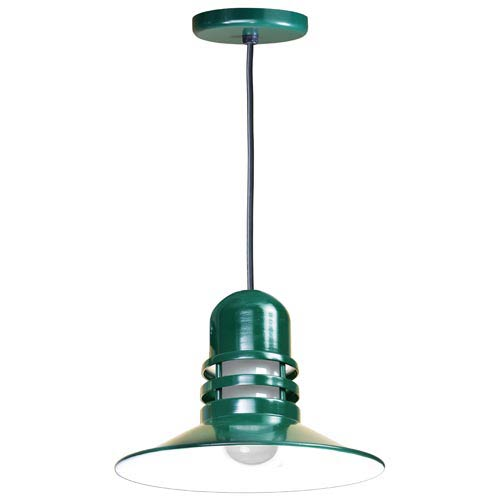 anp lighting orbitor forest green 16 inch outdoor pendant with