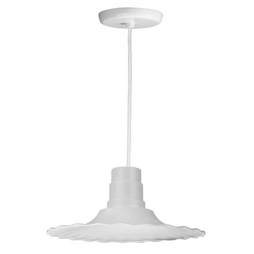 ANP Lighting Radial White 16-Inch Outdoor Pendant with White Cord