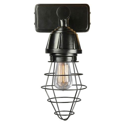 ANP Lighting Retropolitan Black One-Light Outdoor Wall Sconce