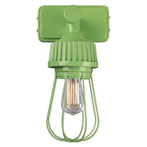 Retropolitan Aspen Green One-Light Outdoor Wall Sconce