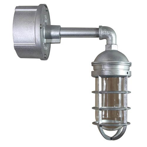 ANP Lighting Retropolitan Galvanized 4.5-Inch Height One-Light Outdoor Wall Sconce