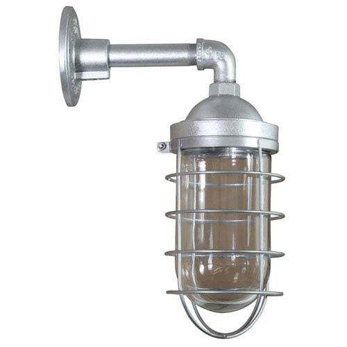 Retropolitan Galvanized 8.5-Inch Height One-Light Outdoor Wall Sconce