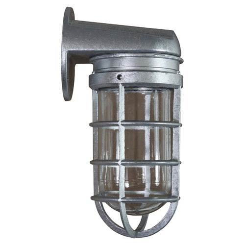 Retropolitan Galvanized 18-Inch Height One-Light Outdoor Wall Sconce