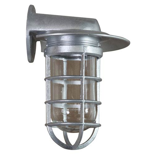 Retropolitan Galvanized 6.5-Inch Height One-Light Outdoor Wall Sconce