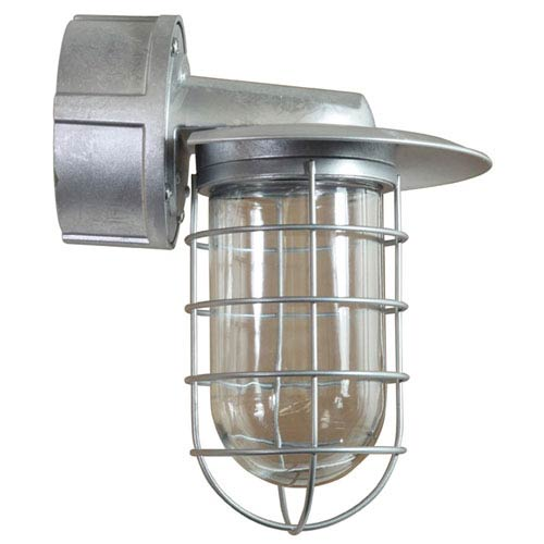 Retropolitan Galvanized 10-Inch Height One-Light Outdoor Wall Sconce