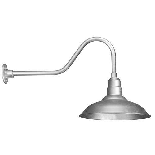 Warehouse Galvanized 16-Inch Outdoor Wall Light