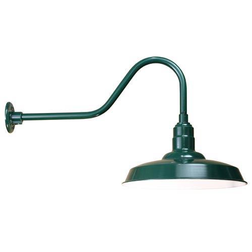 ANP Lighting Warehouse Forest Green 18-Inch Outdoor Wall Light
