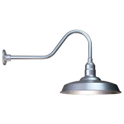 Warehouse Galvanized 18-Inch Outdoor Wall Light