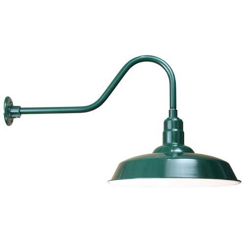 ANP Lighting Warehouse Forest Green 20-Inch Outdoor Wall Light