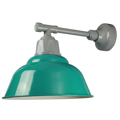 ANP Lighting Retropolitan Aqua Green One-Light Outdoor Wall Sconce