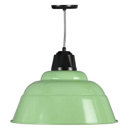 Retropolitan Aspen Green-Black One-Light Outdoor Pendant