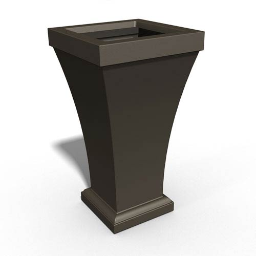 Mayne Bordeaux 40in Tall Planter - Espresso