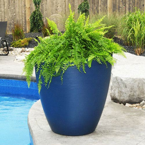 Modesto 30in Round Planter - Neptune Blue