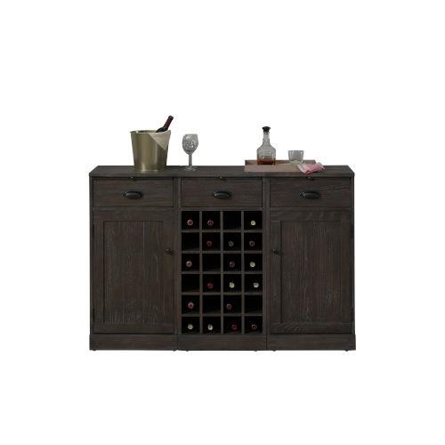Valencia Black 54-Inch Wine Cabinet