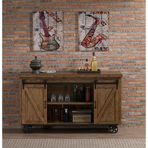 Gateway Reclaimed Wood Bar Cart