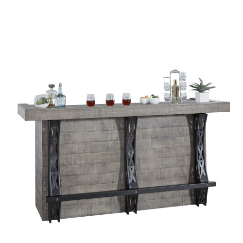Blacksmith Graphite Gray 82-Inch Home Bar