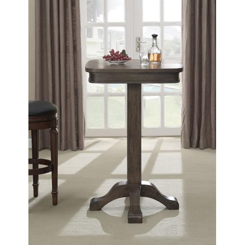 American Heritage Billiards Sarsetta Glacier Pub Table Gla - Square pedestal pub table