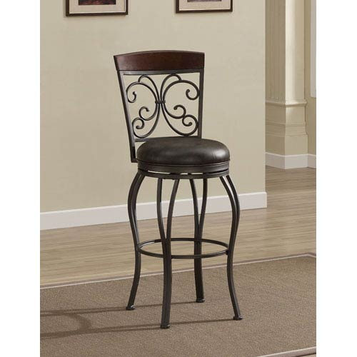 American Heritage Billiards Amelia 26 Inch Swivel Bar Stool 111130