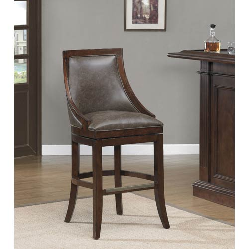 American Heritage Billiards Galileo 30-Inch Swivel Bar Stool