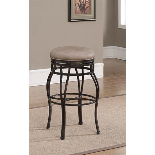 Bella Backless Aged Sienna Swivel Counter Height Stool