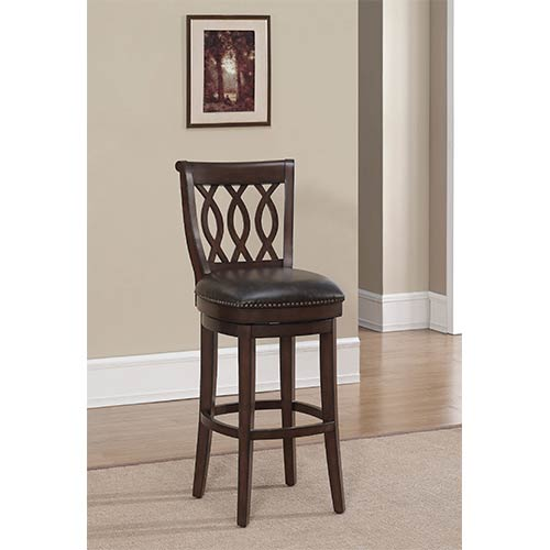 American Heritage Billiards Prado Espresso Swivel Counter Height Stool