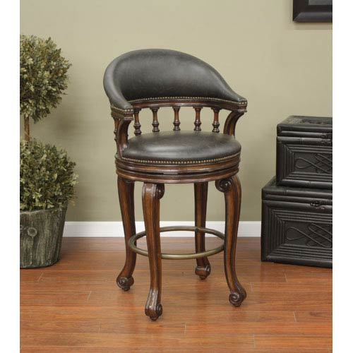 American Heritage Billiards Giovanni 26-Inch Counter Stool with Arms