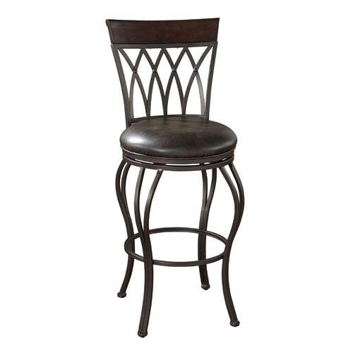 American Heritage Billiards Palermo Pepper Counter Height Stool