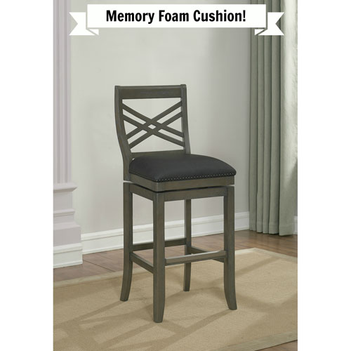 American Heritage Billiards Mason Memory Foam Bar Height Stool
