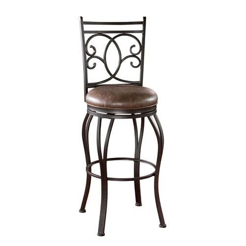 American Heritage Billiards Nadia 30-Inch Bar Stool with Arms