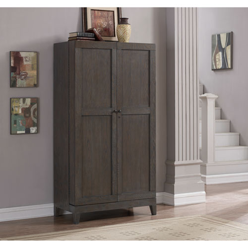 American Heritage Billiards Fairfield Wine Cabinet in Glacier